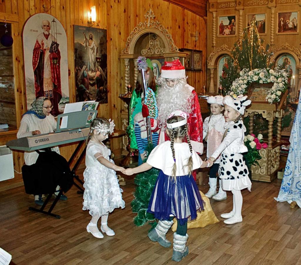 Рождество Христово на приходе Воскресенского храма села Васильево